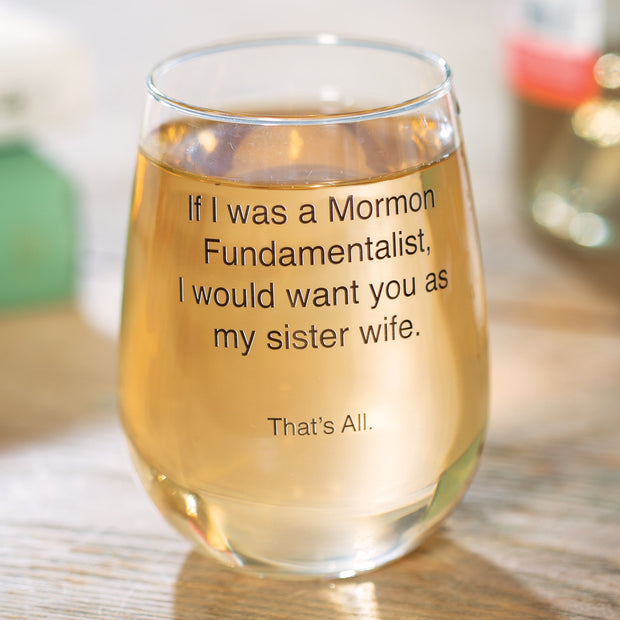 Sister Wife Wine Glass