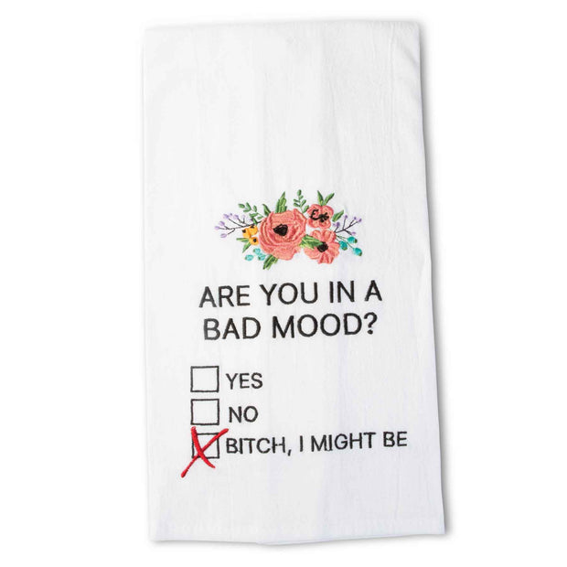 Bad Mood Tea Towel