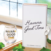 Havana Good Time Gold Barware