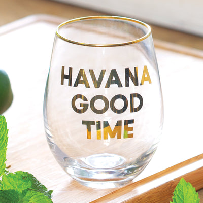Havana Good Time Wine Glass