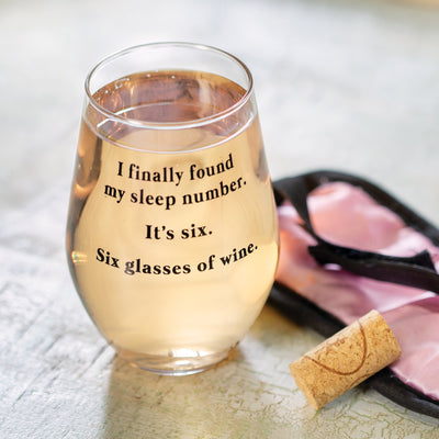 Sleep Number Wine Glass