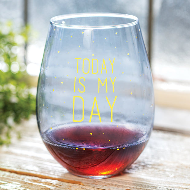 Today is My Day Jumbo Wine Glass