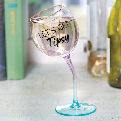 Tipsy Wine Glass
