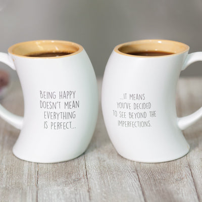 Being Happy Imperfect Mug