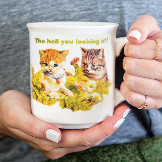 Hell You Looking At Mug