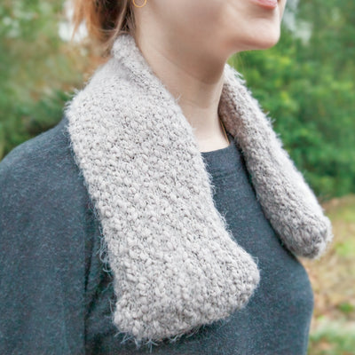 Grey Warming Neck Wrap