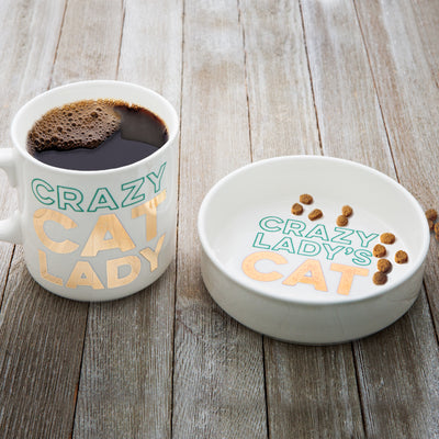Crazy Cat Lady Mug and Pet Bowl