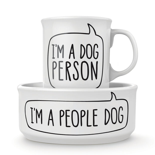 Dog Person Bowl and Mug Set