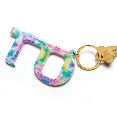 Touchless Marbled Keychain