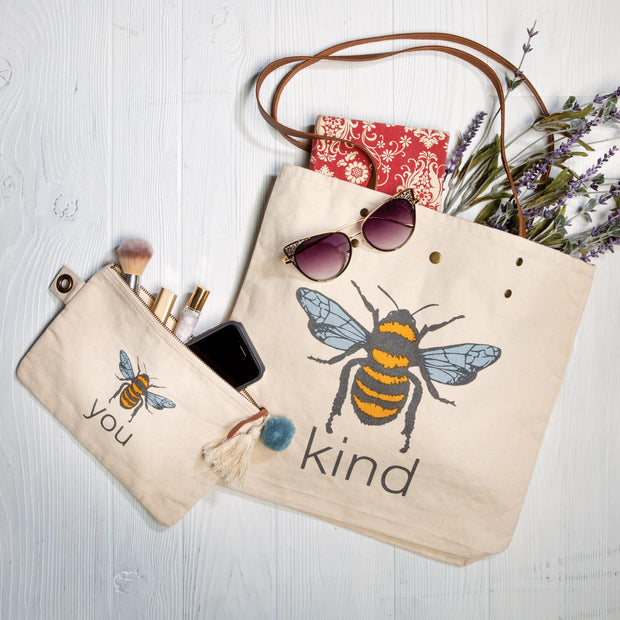 Bee tote and bag set