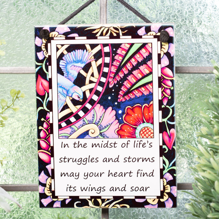 Heart Finds Its Wings Plaque