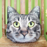 Grey Taby Cat Pillow