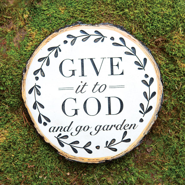 Give it to God Garden Stone