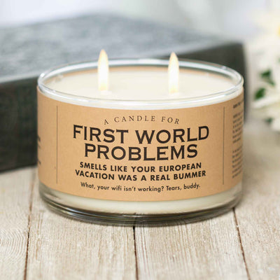 First World Problems Candle