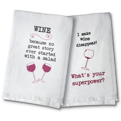 Wine Tea Towel Set