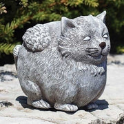 Pudgy Angel Cat Statue
