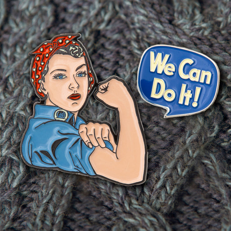 Rosie the Riveter Pins
