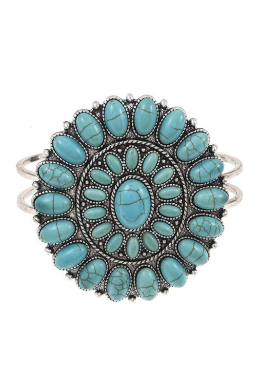 The Tiffany Cuff (Turquoise) - Ny Texas Style Boutique