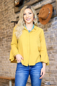 The Madi Kate Mustard Top - Ny Texas Style Boutique