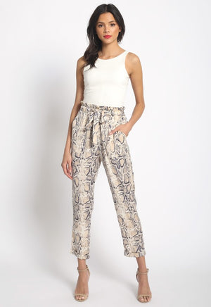 The Emma Jane Snakeskin Pant - Ny Texas Style Boutique