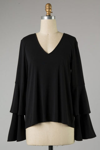 The Callie Top (Black) - Ny Texas Style Boutique