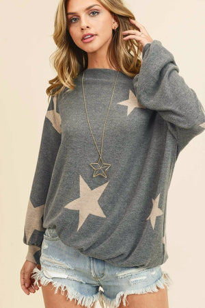 The Maren Star Print Top - Ny Texas Style Boutique