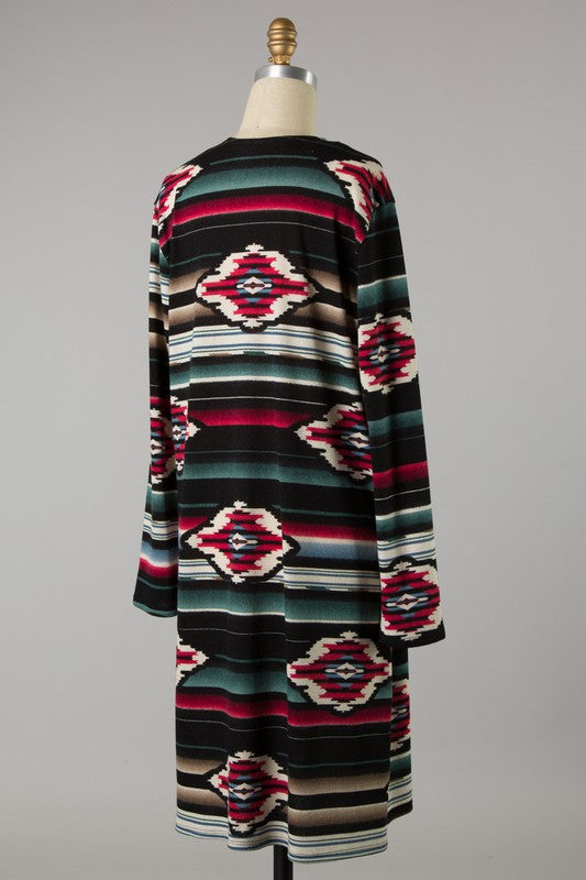 The Linda Aztec Cardigan - Ny Texas Style Boutique