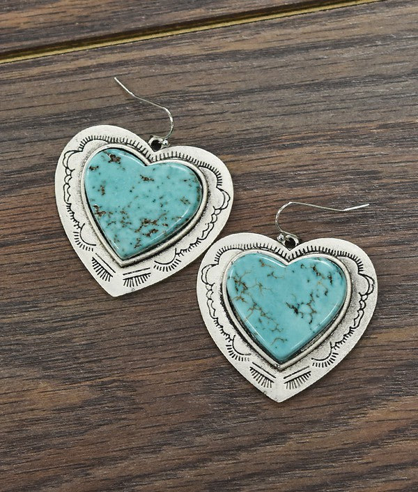 The Heart Earrings - Ny Texas Style Boutique