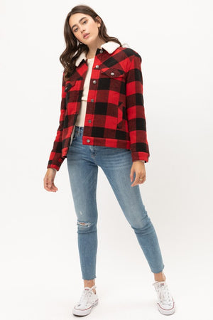The Sherpa Red Plaid Jacket