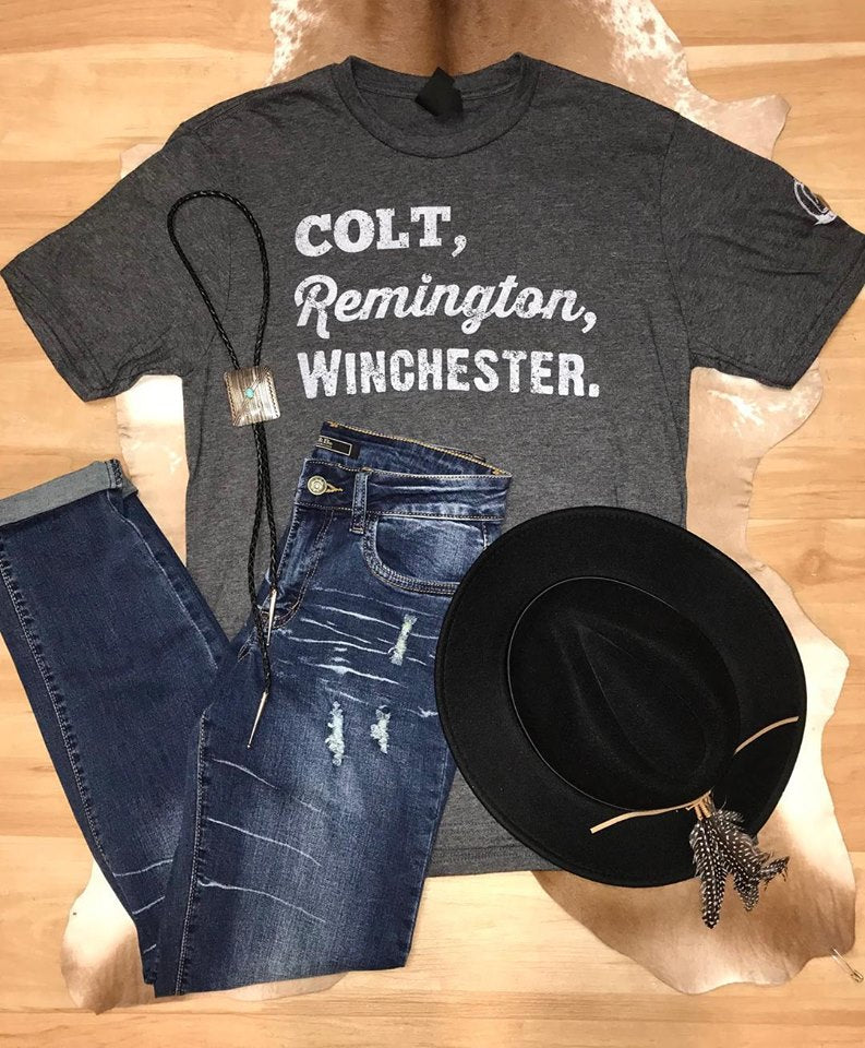 Colt, Remington, Winchester Tee - Ny Texas Style Boutique