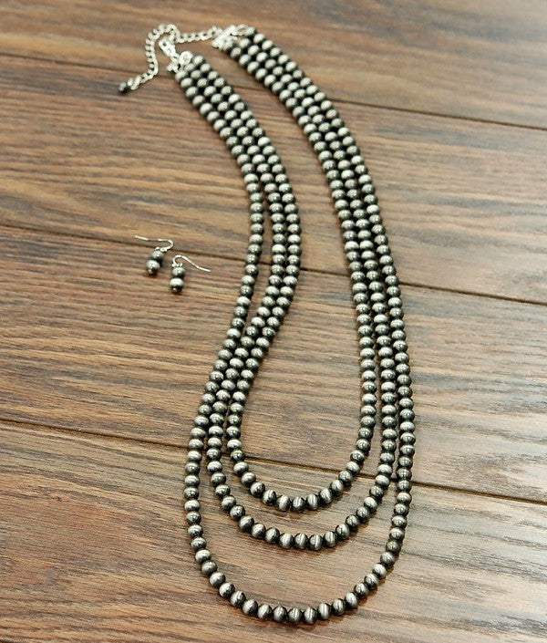 The Reckoning 3 Strand Necklace - Ny Texas Style Boutique