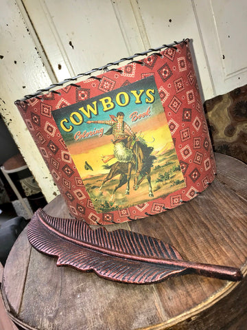 Cowboys Coloring Book Lampshade