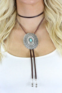 The Brown & Turquoise Bolo - Ny Texas Style Boutique