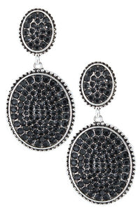 The Barbra Earrings (Black) - Ny Texas Style Boutique