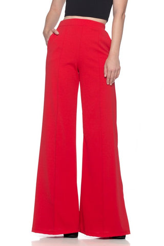 Strawberry Roan Wide Leg Red Bell Bottoms