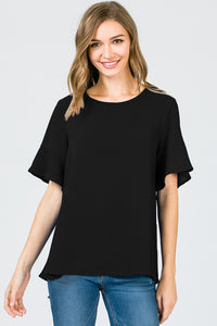 The Mona Black Top - Ny Texas Style Boutique