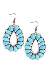 The Hondo Earrings Turquoise - Ny Texas Style Boutique
