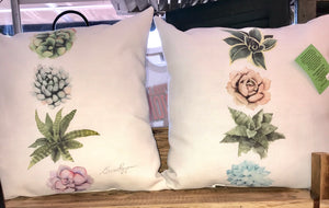Succulent Pillows - Ny Texas Style Boutique