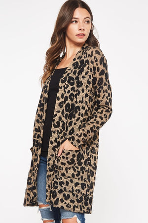 The Midnight Rider Leopard Cardigan - Ny Texas Style Boutique