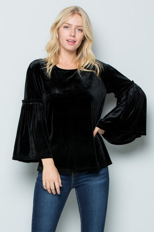 The Tulsa Bell Sleeve Top - Ny Texas Style Boutique