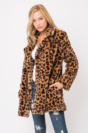 The Bradshaw Leopard Print Coat - Ny Texas Style Boutique