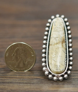 The Ramblin' Mama Ring (White Buffalo) - Ny Texas Style Boutique