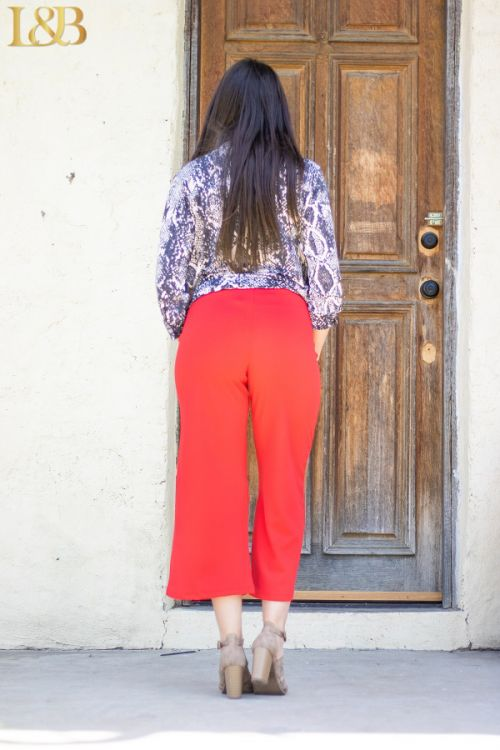 The Red Tomato Crop Pants - Ny Texas Style Boutique