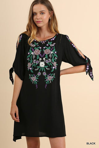The Abilene Floral Embroidered Dress - Ny Texas Style Boutique