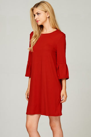Let's Stay Together Red Dress - Ny Texas Style Boutique
