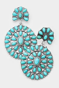 The Mustang Turquoise Earrings - Ny Texas Style Boutique