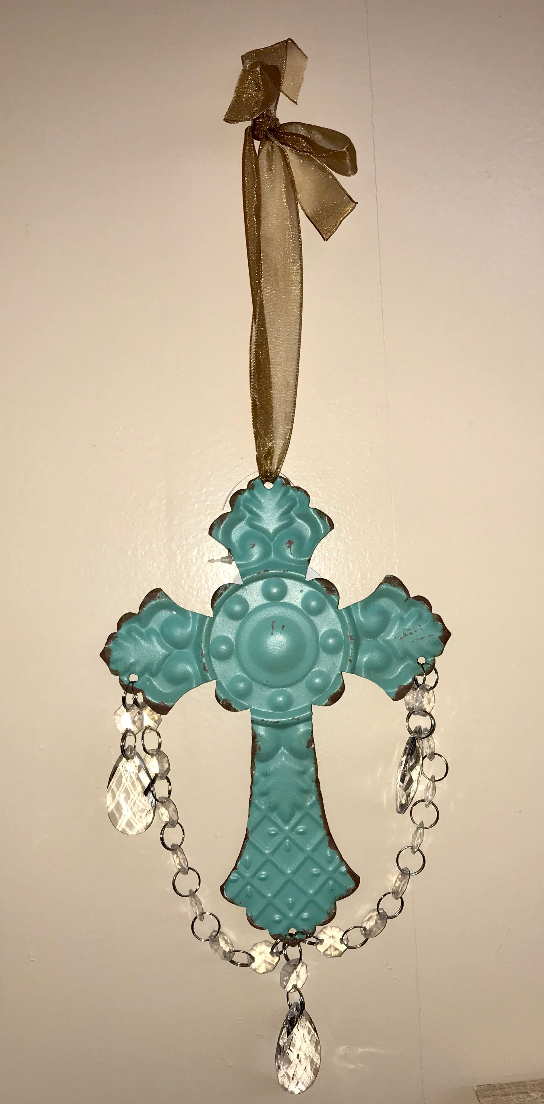 Turquoise hanging cross - Ny Texas Style Boutique