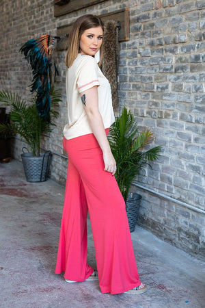 The Coral Palazoo Pant - Ny Texas Style Boutique