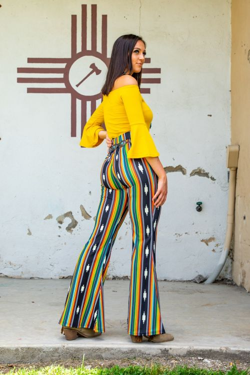 The Kokomo Serape Bell Bottoms