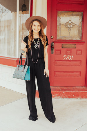 The Megan Black Jumpsuit - Ny Texas Style Boutique